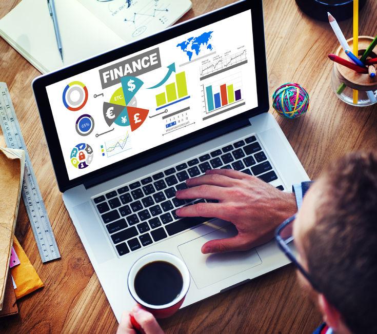39197646 - finance bar graph chart investment money business concept