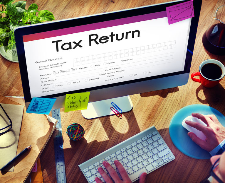 63985780 - tax return financial form concept