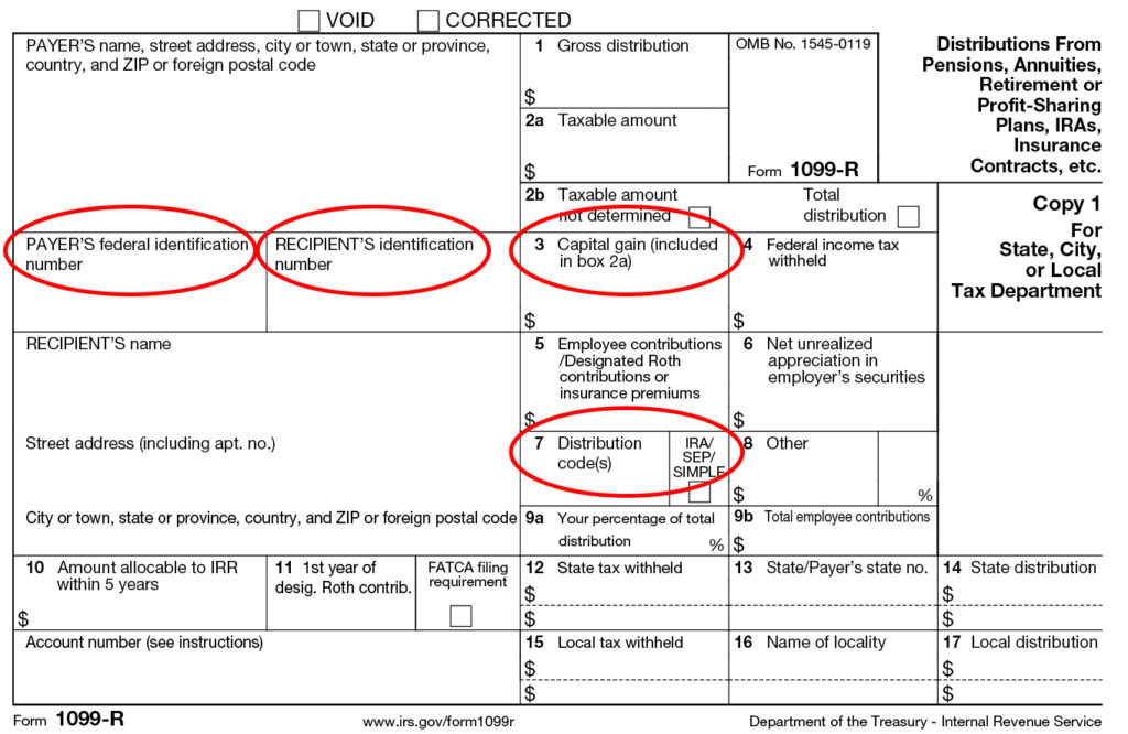 Form 1099 R Instructions Information About Tax Form 1099 R