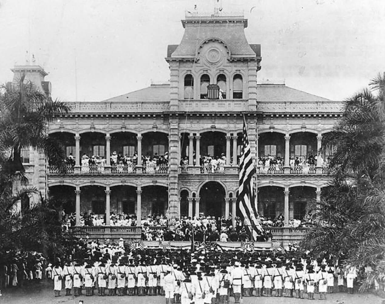 Raising American Flag Hawaii