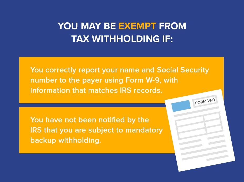 Am I Subject To Or Exempt From Backup Withholding Community Tax
