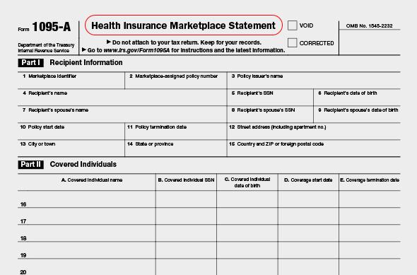 form 1095-a | community tax
