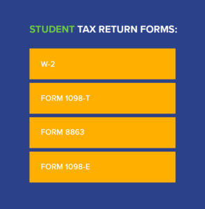 student tax return forms