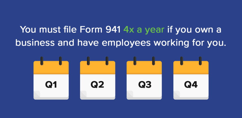 Form 941 Instructions Info On Tax Form 941 Including Mailing Info