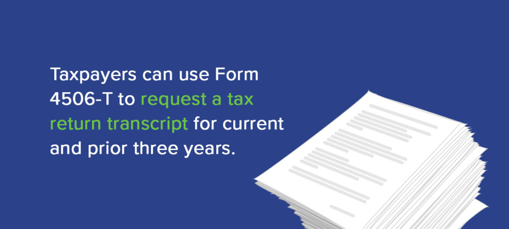 form 4506-t: instructions & information about irs tax form 4506-t