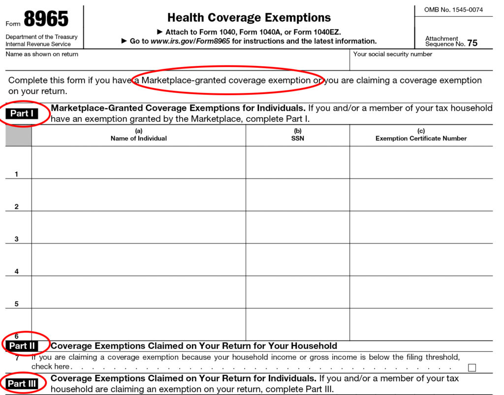 Form 8965 Instructions Information On Irs Form 8965