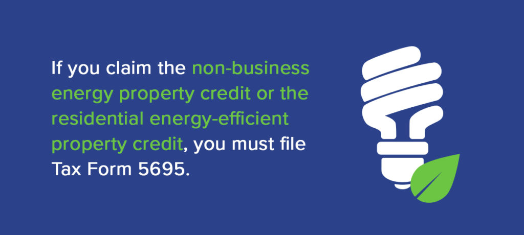 Residential Energy Credits Tax Form 5695