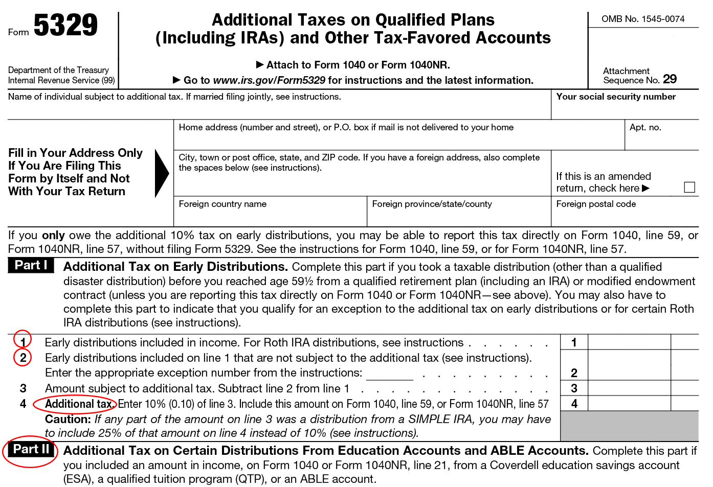Form 5329 Instructions Exception Information For Irs Form 5329