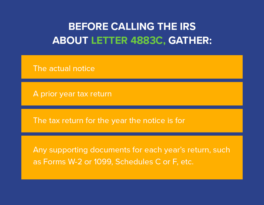 IRS Letter 4883C: Federal Tax Return Received – Please Verify Identity