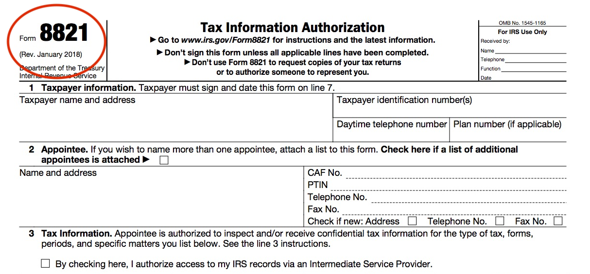 power of attorney form 8821  IRS Form 17: Tax Information Authorization