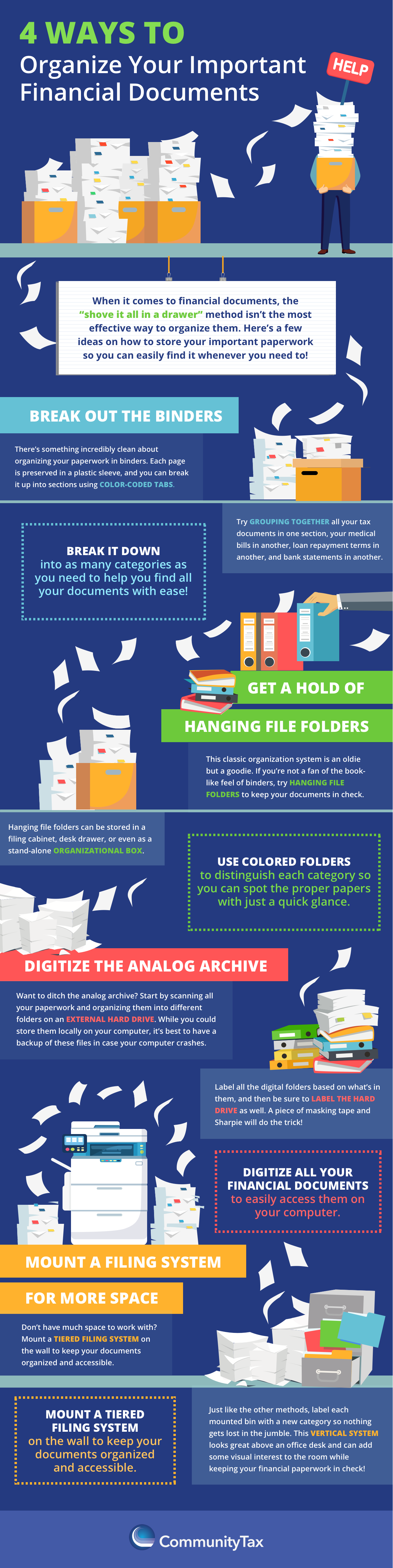 4 Ways to Organize Your Important Financial Documents