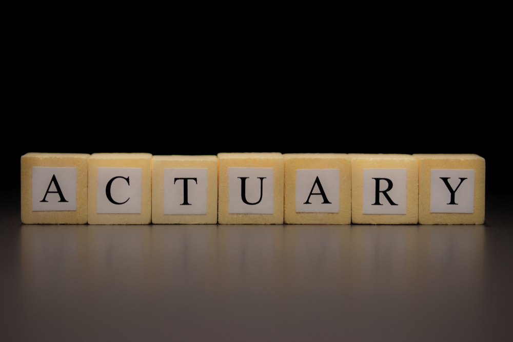 wooden blocks say actuary